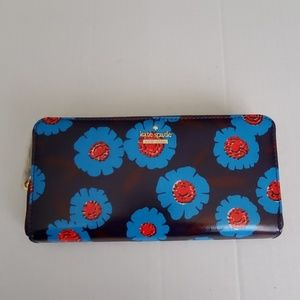Kate Spade tangier floral stacy Zip Around Wallet
